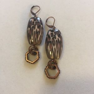 Animal Print and Copper earrings